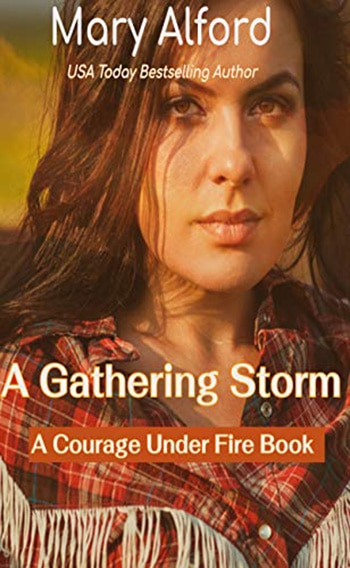 A Gathering Storm book cover, author Mary Alford